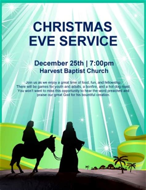 Nativity Flyer Christmas Eve Service Template Flyer Templates Nativity Flyer Template