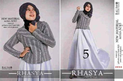 Balimo Terlaris balimo rhasya kode 5 baju muslim gamis modern