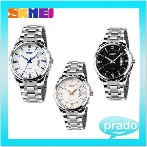 Promo Skmei Casual Leather Water Resistant 30m 9 skmei 9069 stainless steel water resistant 30m quartz led 11street malaysia casual
