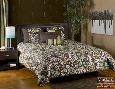 green paisley comforter 4pc aqua blue chocolate olive green modern paisley