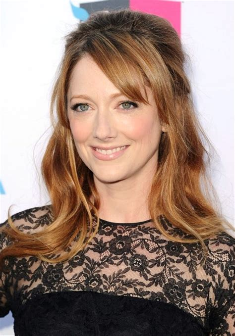 hairstyles half up half down with bangs pictures of judy greer half up half down hairstyle with