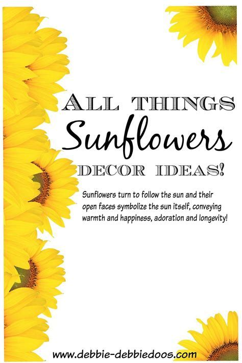 All things Sunflowers   Debbiedoos
