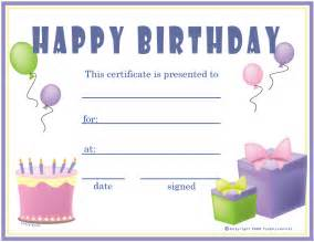 birthday gift certificate template free 6 best images of birthday printable gift certificates