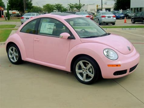 pink volkswagen light pink beetle car