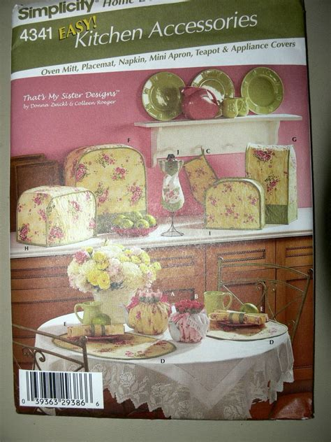 Simplicity Kitchen by Simplicity Pattern 4341 Home Decor Kitchen Items Tea Cozy Appliance Covers Mitt Ebay