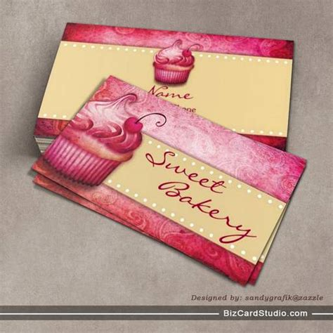 cakes business cards template sweet bakery business cards