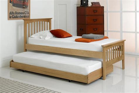 single bed with guest bed heywood solid oak guest bed 3ft single the oak bed store