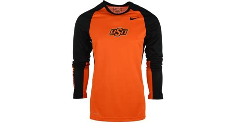 Orange Nike Elite T Shirt lyst nike s sleeve oklahoma state cowboys elite