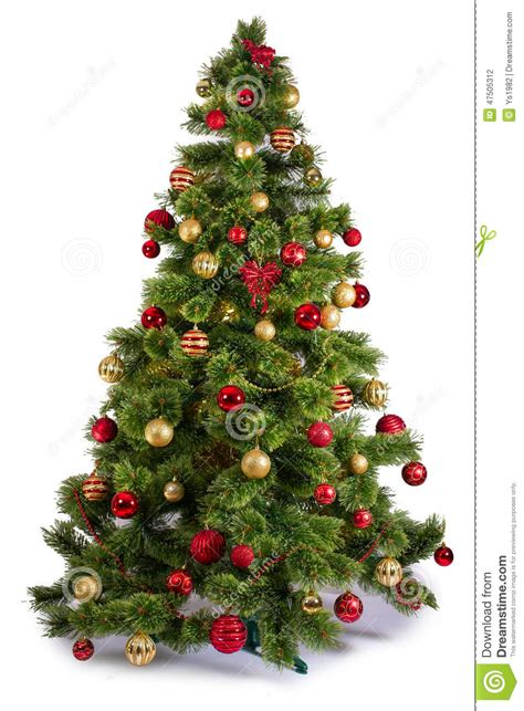 images of white trees decorated decorated tree on white background stock photo