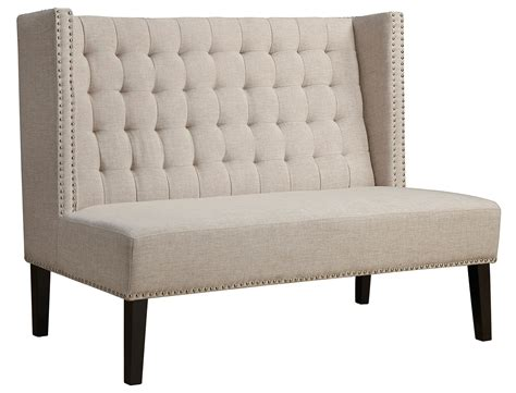 linen banquette halifax beige linen banquette bench set of 2 from tov tov