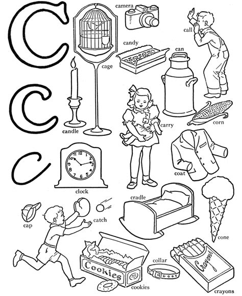 colors starting with c letter c coloring page az coloring pages