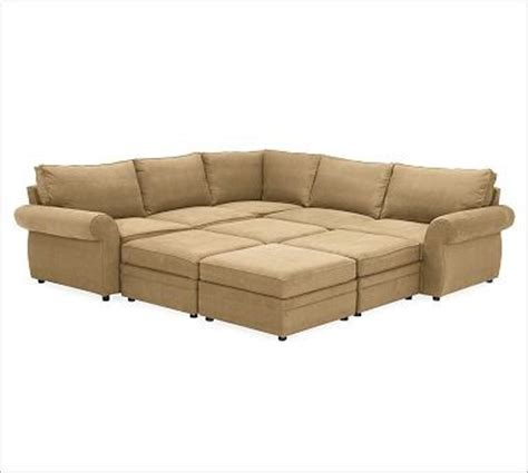 pearce upholstered 6 pit sectional textured