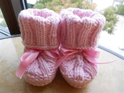batitas en crochet y dos agujas para bebes 180 00 en mercadolibre botitas para bebe con agujas parte 1 de 3 youtube