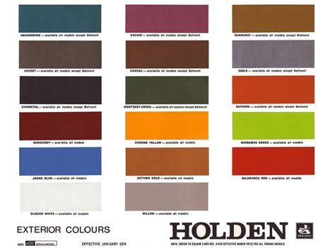 paint colour code holden holden hq colour chart holden hq colours cars