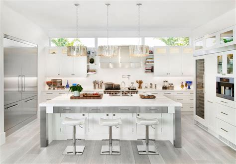 variety   white kitchen designs arranged