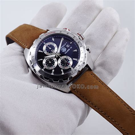 tag heuer formula 1 cal16 caz2010 silver brown leather