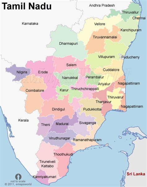 Tamilnadu Outline Map India by Maps Of Tamilnadu