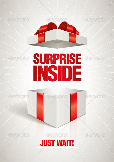 surprise gifts surprise inside gift box graphicriver