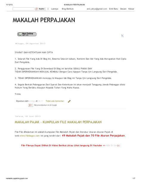 makalah membuat blog di wordpress kumpulan makalah perpajakan di blog http makalah pajak