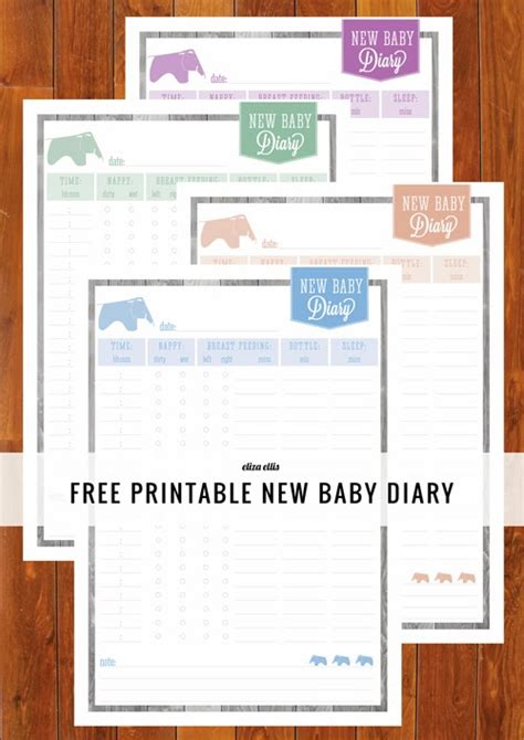 printable baby journal someday crafts crafting for baby new baby diary from