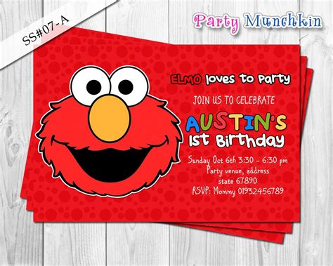 printable birthday cards elmo elmo digital invitation for elmo sesame street birthday