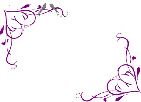 design flower purple purple flower border design clipart free to use clip art