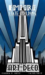 Art deco style poster empire state building