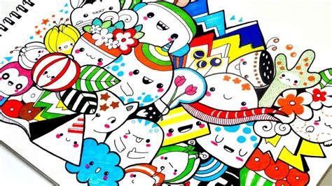 doodle simple nama berwarna cara membuat gambar doodle sedehana sarungpreneur