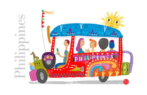 jeepney philippines drawing philippine jeepney art print