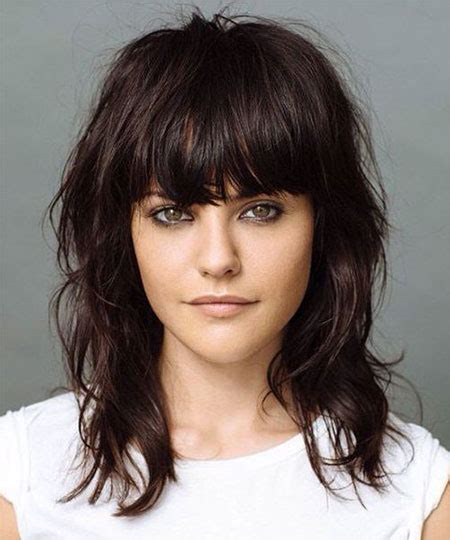 medium haircuts 2015 for round face hairstyle trends globezhair 15 modern medium length haircuts with bangs layers for