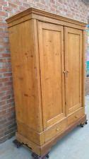 Armoire With Hanging Bar 76 Quot Antique Wax Pine Armoire Wardrobe Country Closet