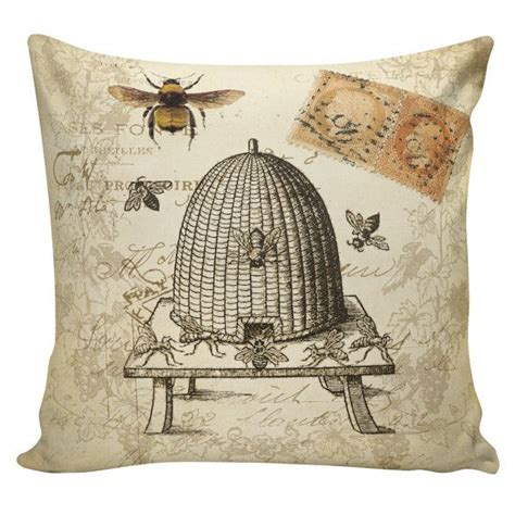 throw pillow cover vintage french spring honey bee hive