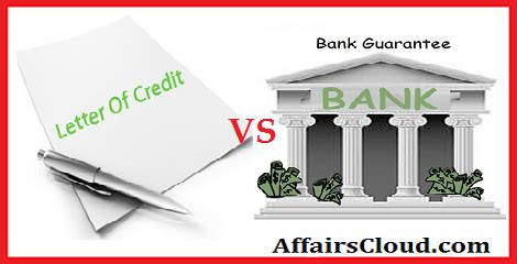 Letter Of Credit And Bank Guarantee Ppt letter of credit vs bank guarantee