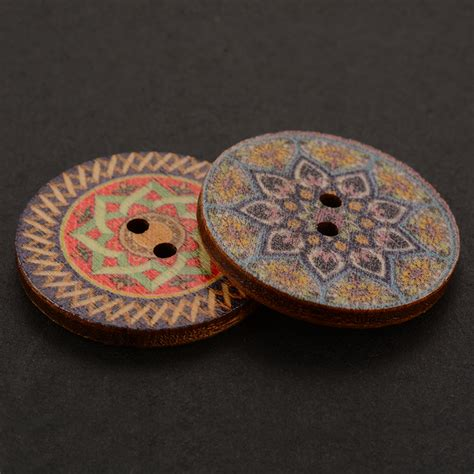 Handmade Button - 100pcs vintage wooden buttons sewing clothings
