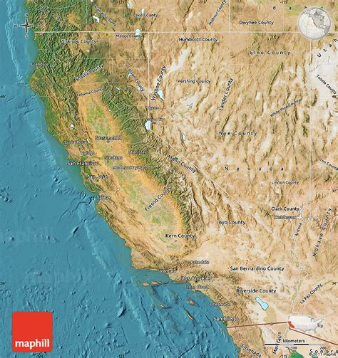map united states california satellite map of california