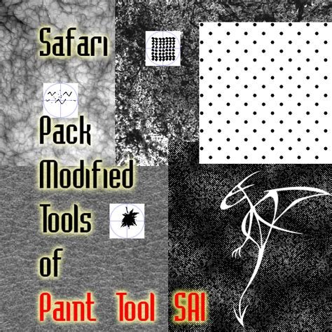 paint tool sai texture pack safari pack modified tools of paint tool sai by