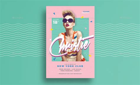 90 S Dj Flyer By Guuver Graphicriver Poster Template 90 X 120cm
