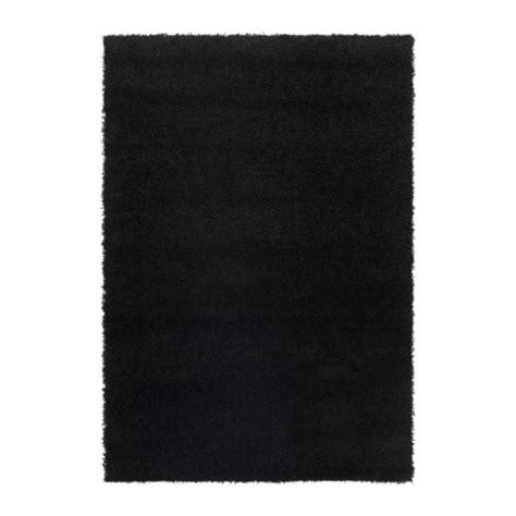 ikea black rug hen rug high pile 133x195 cm ikea