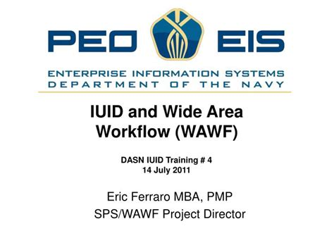 Mba And Pmp Combination Salary by Ppt Eric Ferraro Mba Pmp Sps Wawf Project Director