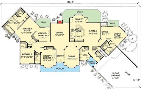 houses with in quarters house plans guest suite and photo galleries on