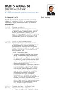 Financial Accountant Resume Samples Visualcv Resume