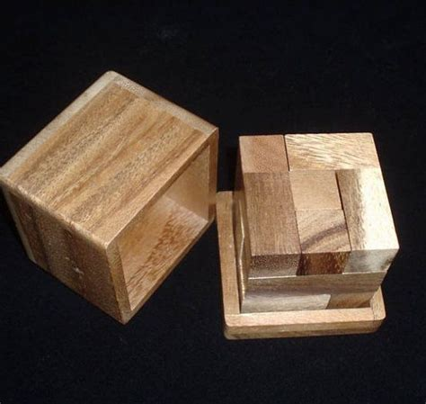 Handmade Wooden Puzzles - half hour puzzle handmade wooden brain teaser puzzle 6