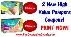 New pampers printable coupons high value print now