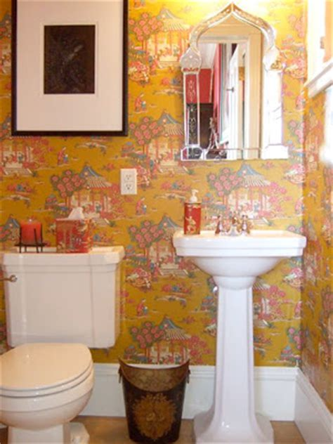yellow and pink bathroom under a paper moon pink yellow at home