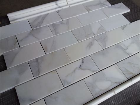 calacatta 3 215 6 subway tile marble the builder depot blog