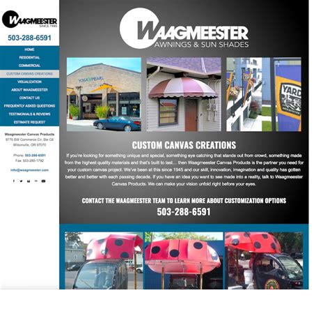 sunnc awnings website awnings waagmeester canvas products