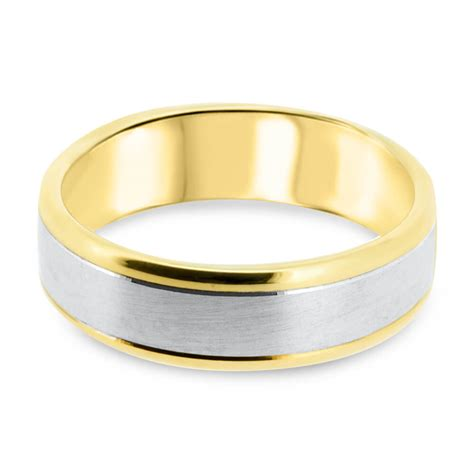9ct yellow gold white gold 6 5mm two tone s wedding