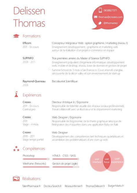 cv graphique d un futur ui designer inspirations creative cv and cv design