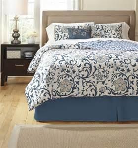 electric floral blue comforter set