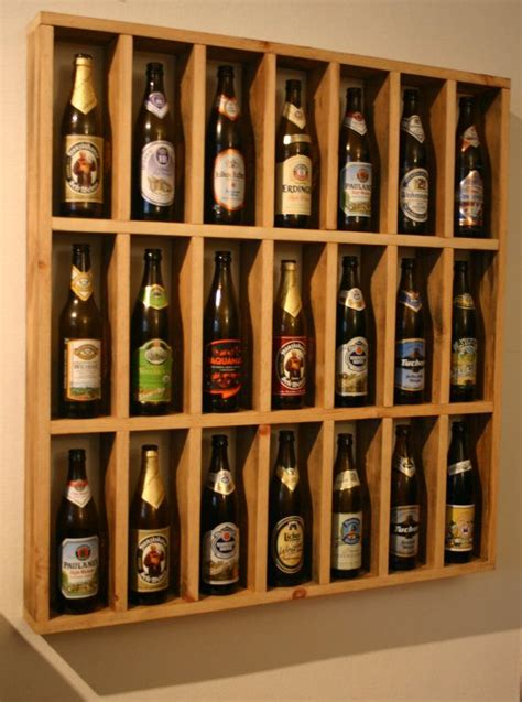 pint glass display cabinet to make myself pint beer bottle display by scharchworks